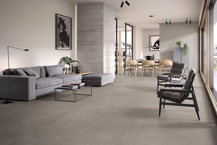 betonlook tegels 120x120 cm - Tr3nd Concrete Smoke