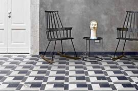 Vloertegels hal- en gang - Byron Mosaico E-3D