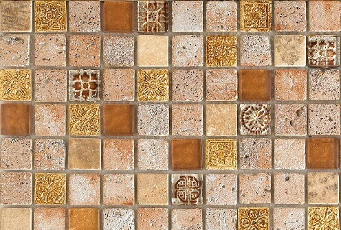 Mozaiek wandtegels - London Gold