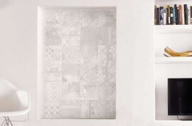 Vloertegels op afmeting - Gesso Natural White Decoro Patchwork