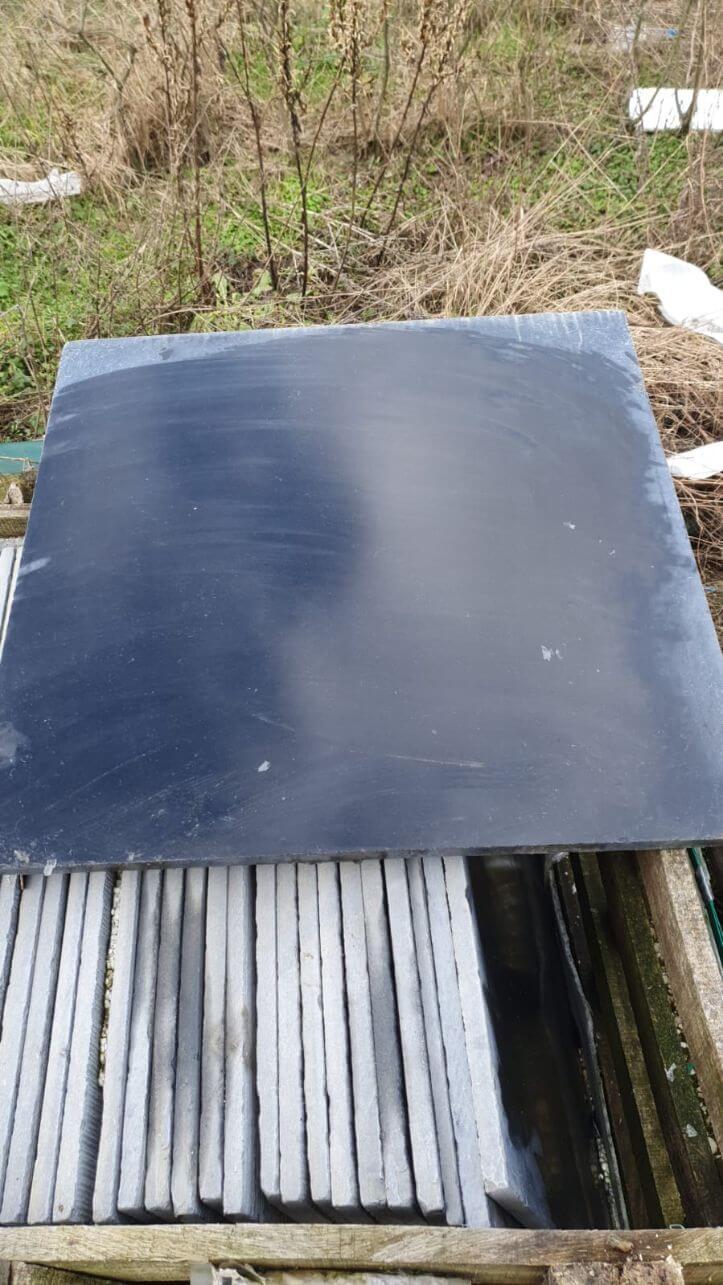 Outlet vloertegels - Harappa Stone Black - Restpartij
