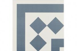 Vloertegels op kleur - Antigua Azul 001 - Hoekstuk 20x20