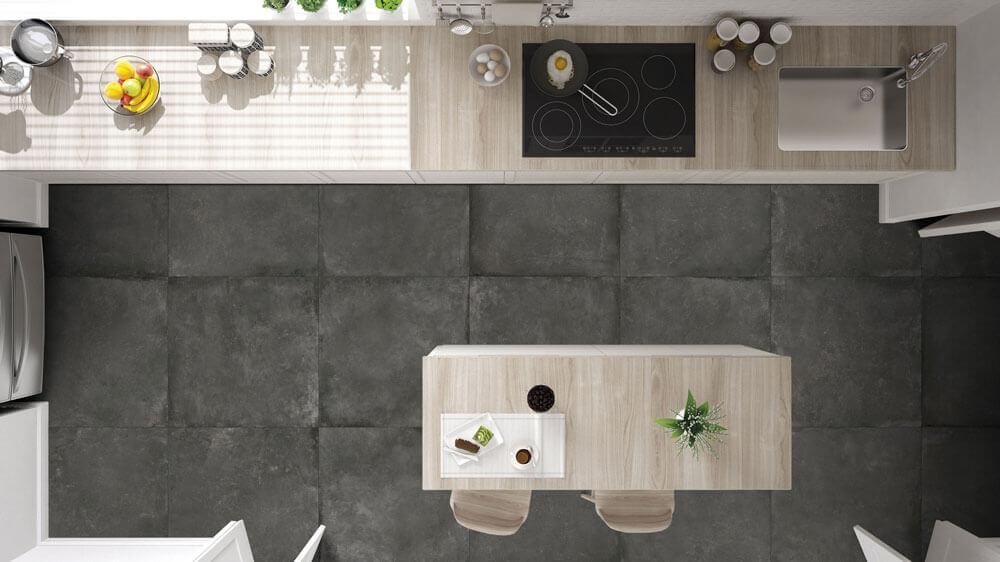 Vloertegels betonlook 80x80 cm - Dream Graphite