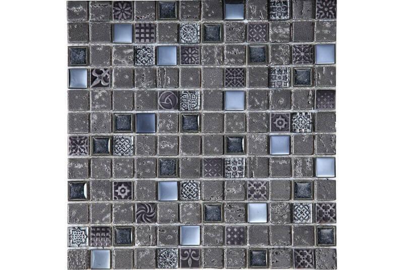 Glas Mozaiek - Imperium Graphite