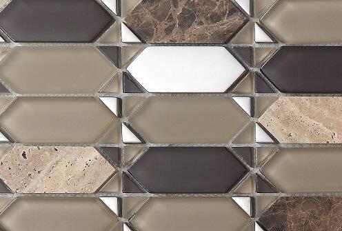 Keramische Mozaiek - Classic Brown