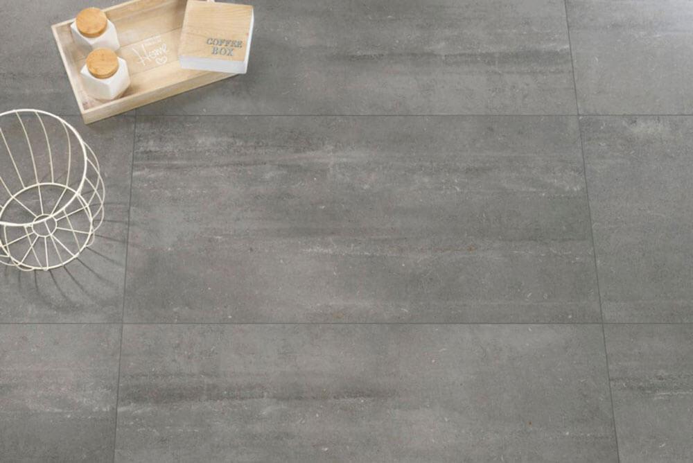 Vloertegels betonlook 60x120 cm - Portland Fumo
