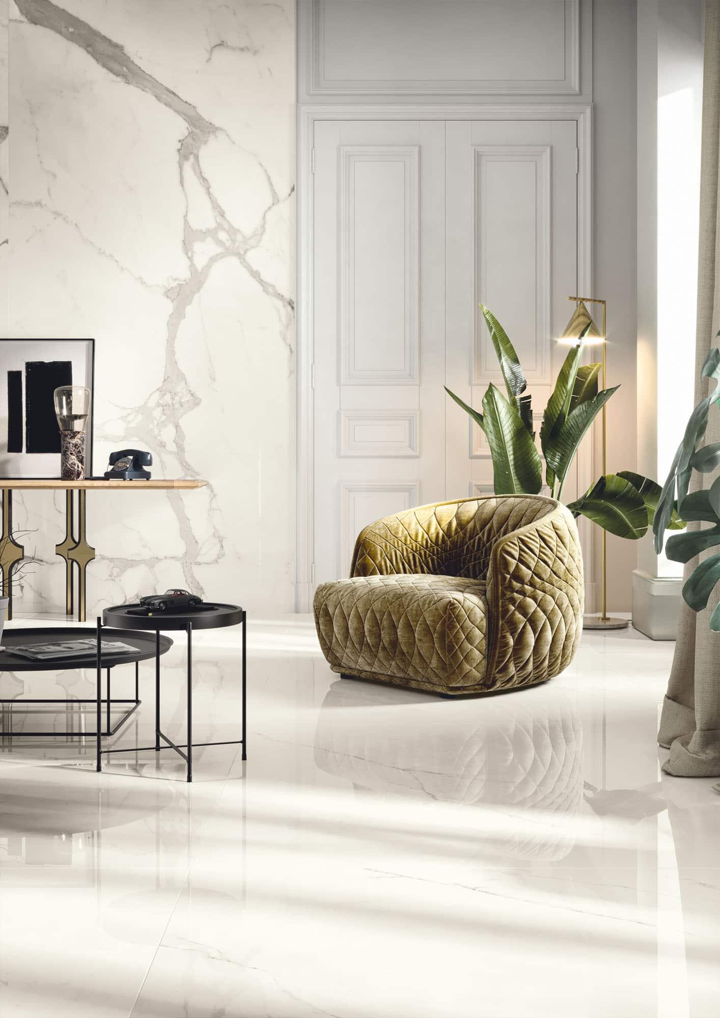 Wandtegels 60x120 - Vanity Bianco Statuario - Glossy