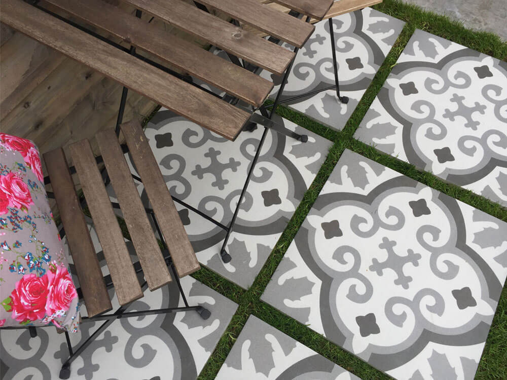 Grijze terrastegels - Revoir Paris Louise