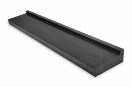 Basalt raamdorpels - Olivian Black / Nero Assoluto Basalt Raamdorpel - 15,5 x 6 cm