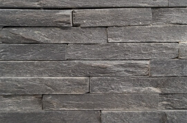 Stonepanels - Black Slate Stone Panels - Skinn Face