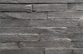 Natuursteen strips - Black Slate Stone Panels - Skinn Face
