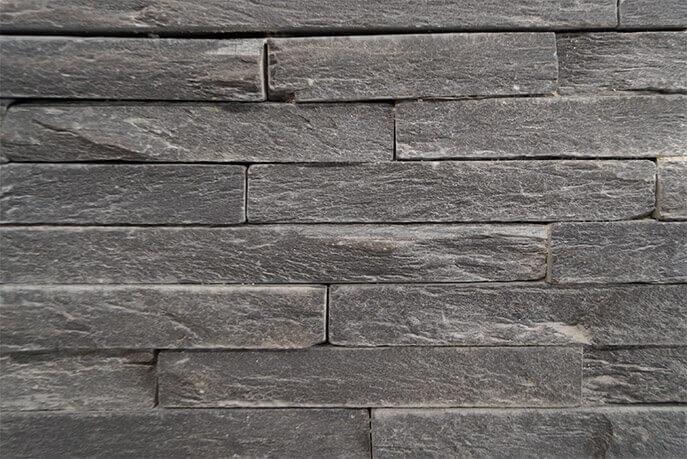 Stonepanels - Black Slate Stone Panels - Skinn Face