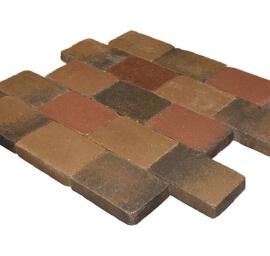 Metro Trommelsteen Brons genuanceerd
