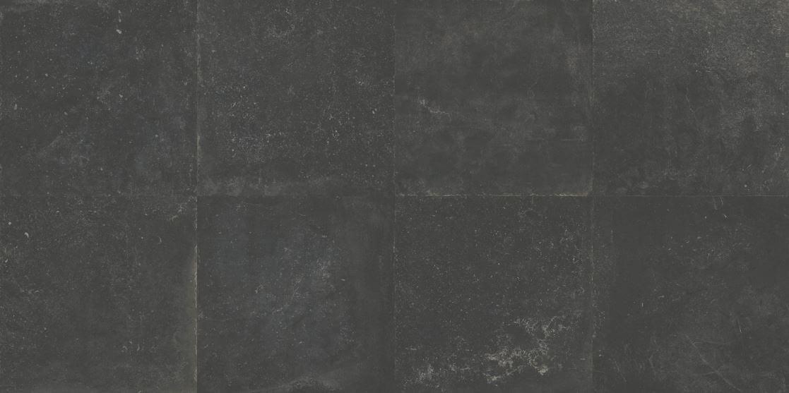 Zwarte vloertegels - Dark Moon - Getrommeld