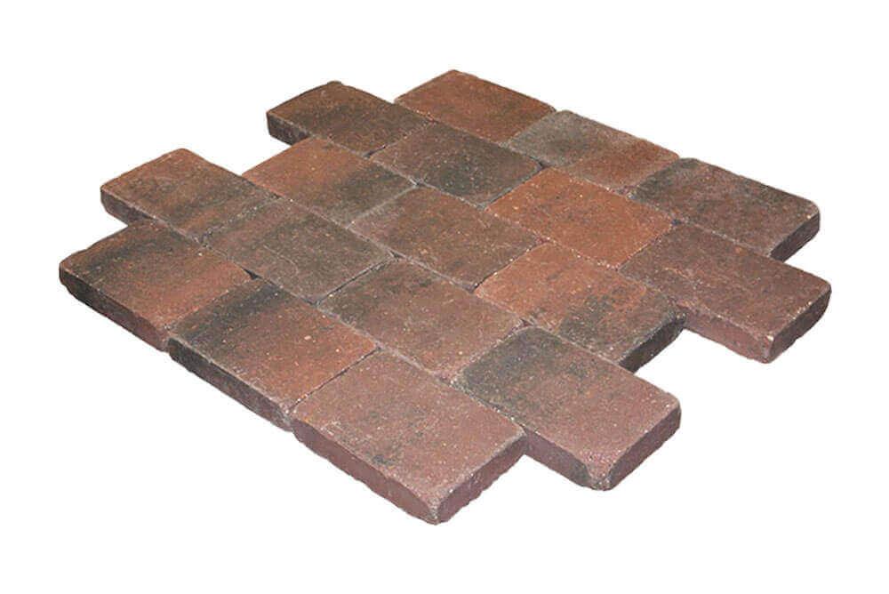 Betonbestrating - Metro Trommelsteen Rood genuanceerd