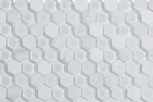 Mozaiek wandtegels - Hexagonos White