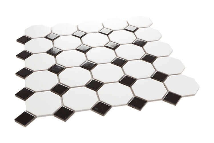 Mozaïek tegels - Octogon White Matt