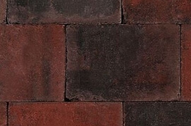 Betontegels 20x15 - Sierbestrating Trommel Rood / Zwart