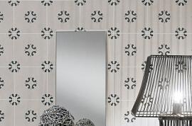 Witte vloertegels - Cementine Black&White 3