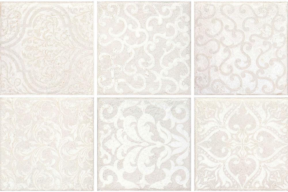 Vloertegels 15x15 - Majoliche Bianco Lenzi Mix