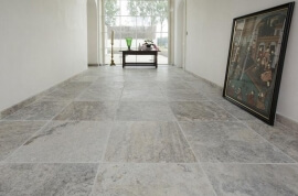Vloertegels 40x60 - Travertin Silver - Soft Finish