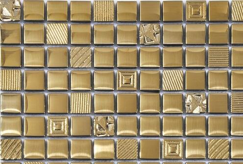 Mozaiek wandtegels - Relief Gold