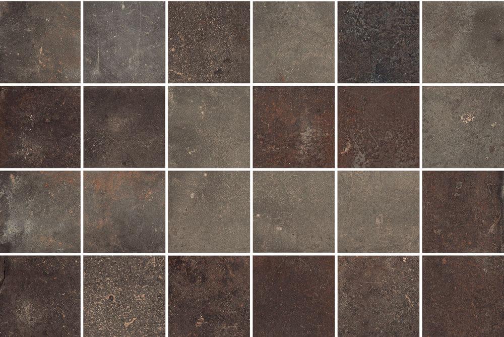 Wandtegels Basalt Look - Vox Brown mozaïek
