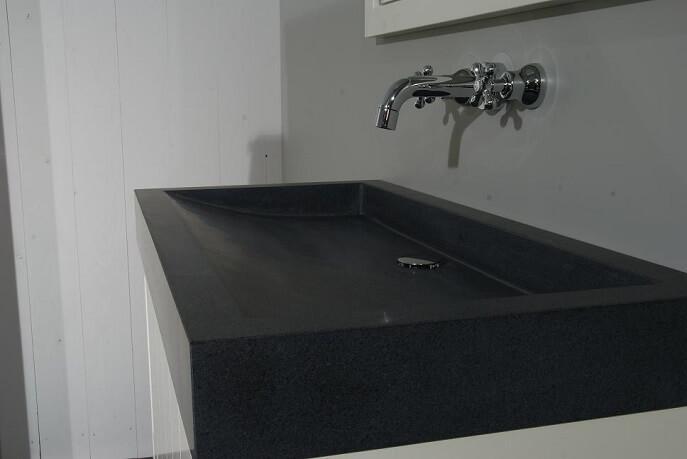 Graniet gezoete wasbak cm al v a u ac p s totaaltegel