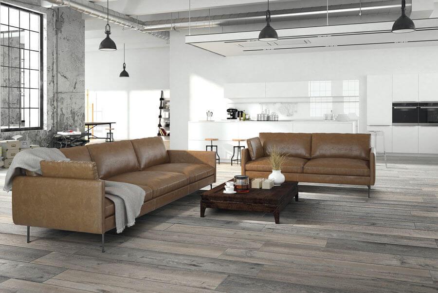 Vloertegels houtlook 30x120 cm - Kent Grigio