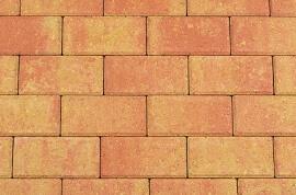 Betonbestrating - Betonstraatsteen Terracotta / Geel