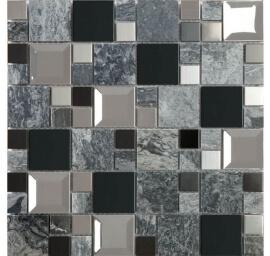 Glas Mozaiek - Kaos Grey