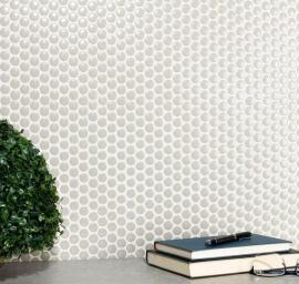 Keramische Mozaiek - Penny Grey Gloss