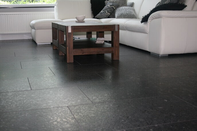 Graniet vloertegels - Steel Grey Graniet - Leather Finish