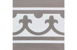 Grijze vloertegels - Den Bosch - Randstuk recht