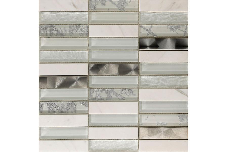 Glas Mozaiek - Artist White