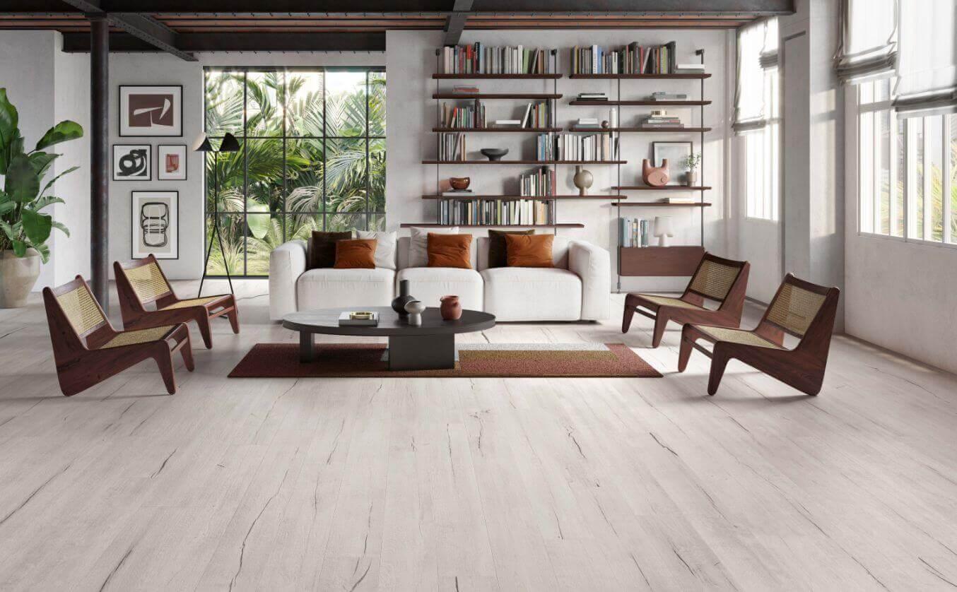 Vloertegels 30x180 - Timewood White
