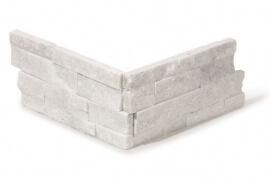 Natuursteen strips - White Kwartsiet Stone Panels - Hoekstuk