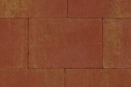 Betontegels 20x30 - Straksteen Terracotta / Geel 20x30