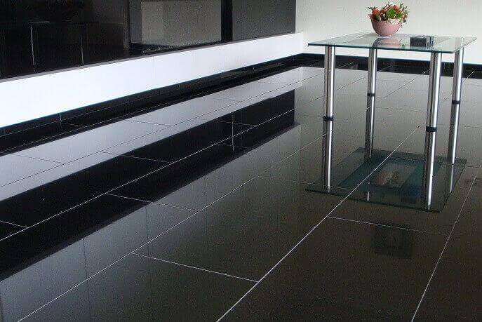 Graniet vloertegels - Nero Assoluto Graniet - Gepolijst