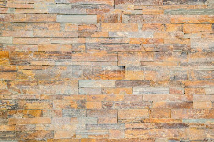 Natuursteen strips - Leisteen Rusty Stone Panels Flat Face
