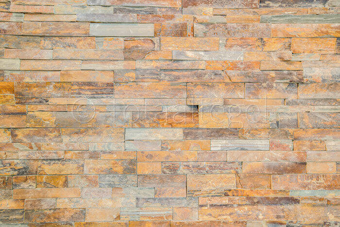 Natuursteen strips - Rusty Slate Stone Panels Flat Face