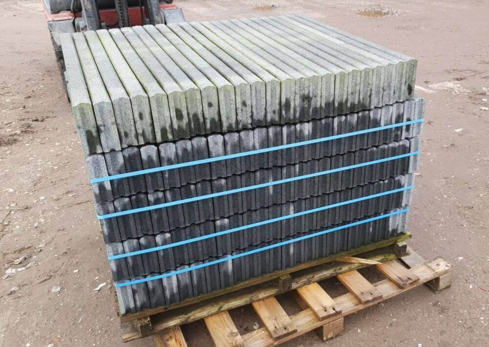 Tuin & bestrating - Beton opsluitbanden donkergrijs - Restpartij