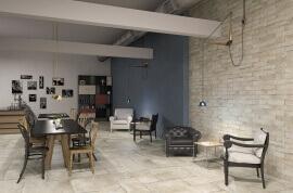 Beige vloertegels - Naxos Esedra Pergamo (binnen)