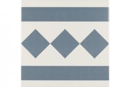 Vloertegels op kleur - Antigua Azul 002 - Randstuk 20x20