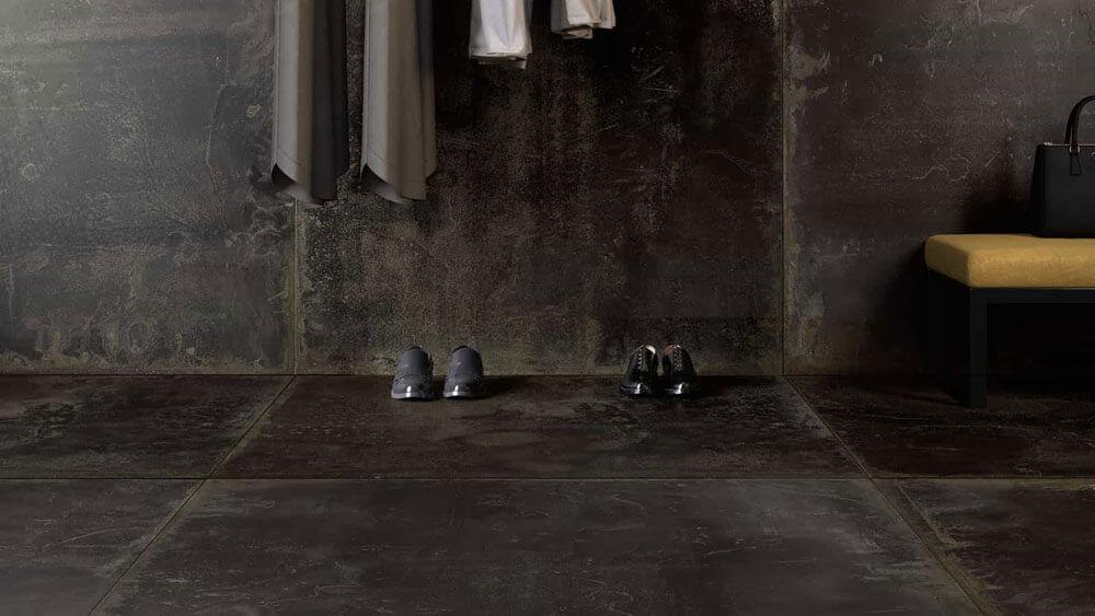 Zwarte vloertegels - Oxidart Black