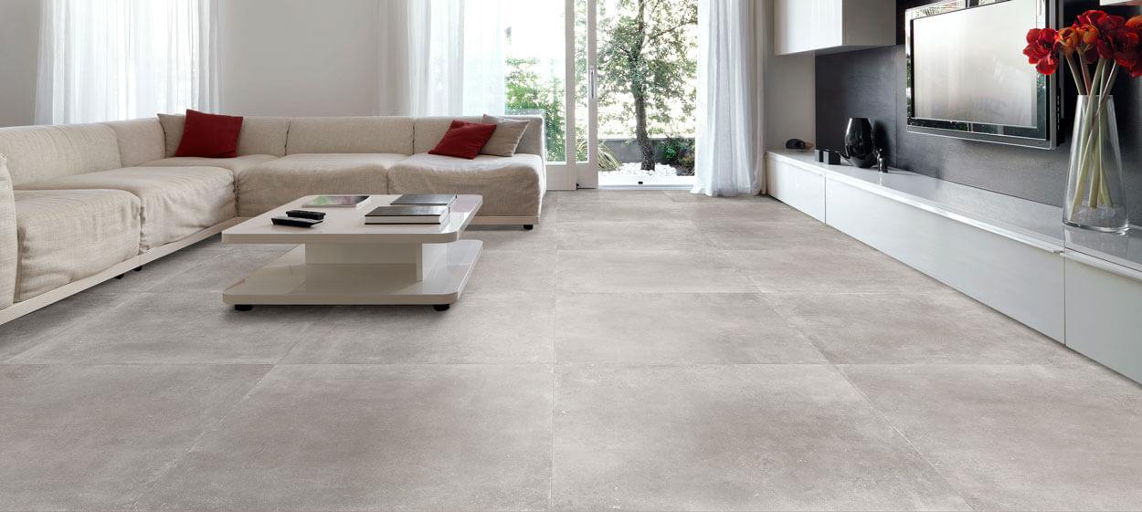 Vloertegels betonlook 90x90 cm - Space Ash