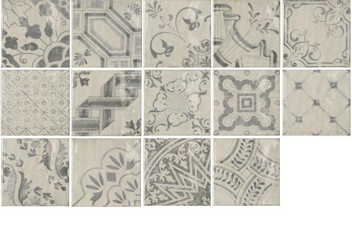 Portugese keramische wandtegels - Hidra Mix 20x20