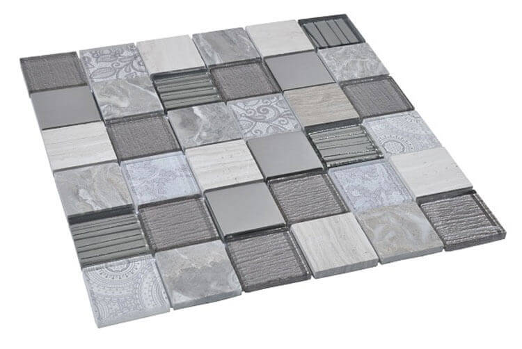 Glas Mozaiek - Elements Grey