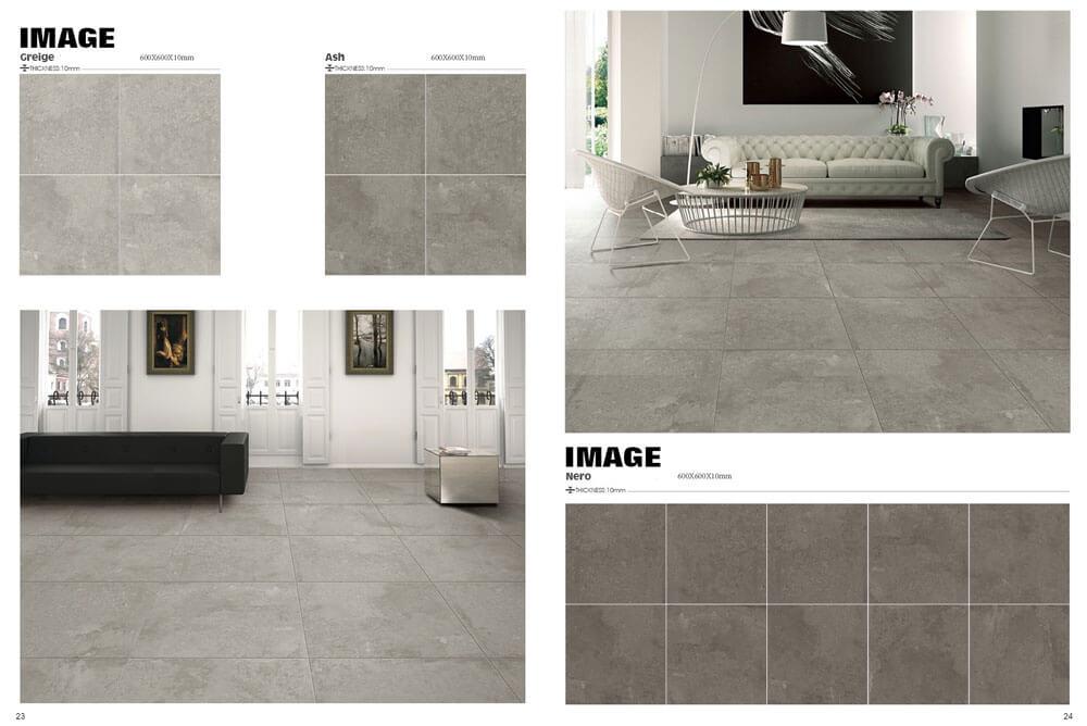Vloertegels betonlook 60x60 cm - Image  Nero