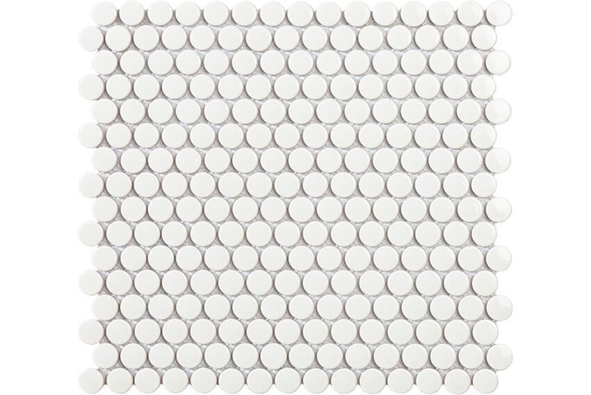 Mozaïek tegels - Penny White Gloss